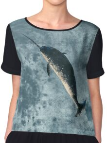 Jackson the Narwhal Chiffon Top