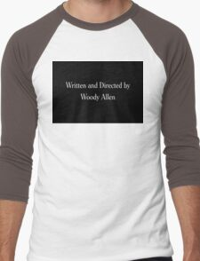 Written & Directed by Woody Allen Movie Credits in Font Men's Baseball ¾ T-Shirt