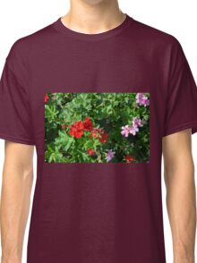 Colorful flowers in the garden. Classic T-Shirt