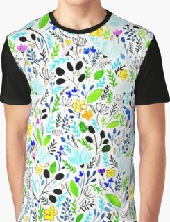 Floral Spring Hipster Pattern Graphic T-Shirt
