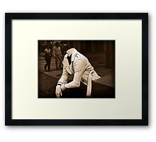 I can't concentrate... Framed Print