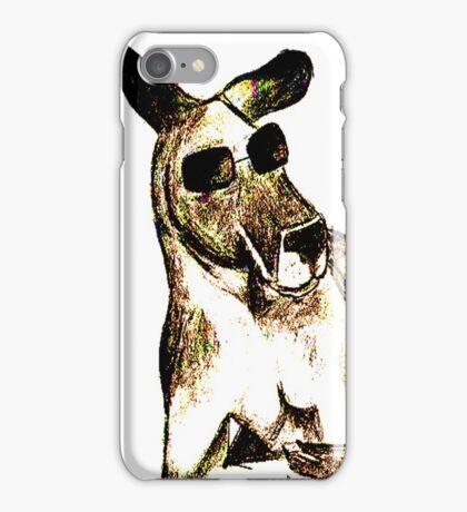 Cool Kangaroo (Colour) iPhone Case/Skin