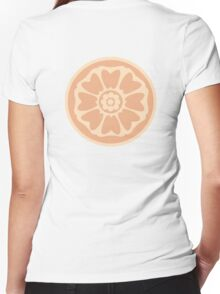 order of the white lotus symbol Women's Fitted V-Neck T-Shirt