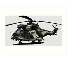 Puma Helicopter Art Print