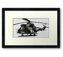 Puma Helicopter Framed Print