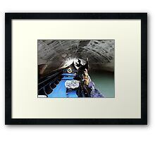 Gondolier in Venice Canal Framed Print