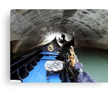 Gondolier in Venice Canal Canvas Print