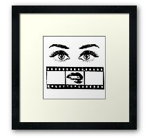 Eyes Film Framed Print