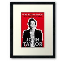 John Taylor Duran Duran Framed Print