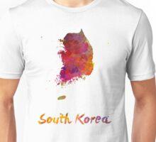 South Korea in watercolor Unisex T-Shirt