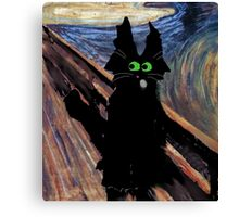 Cat Screaming Canvas Print