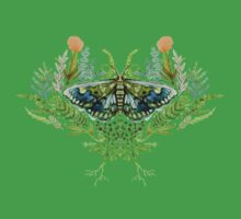 Moth with Plants Baby Tee