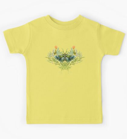 Moth with Plants Kids Tee
