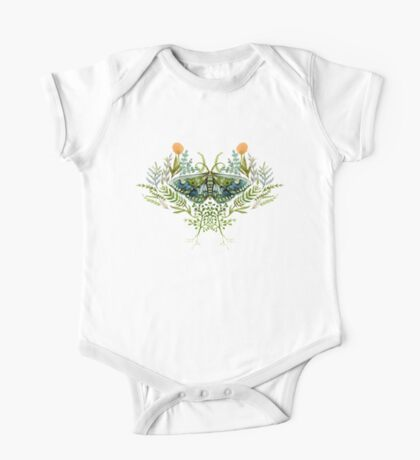 Moth with Plants One Piece - Short Sleeve