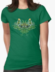 Moth with Plants Womens Fitted T-Shirt