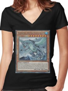 Gameciel, The Mutant ninja Kaiju Women's Fitted V-Neck T-Shirt