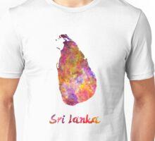 Sri Lanka in watercolor Unisex T-Shirt