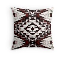 Navajo Red Eye Dazzler  Throw Pillow