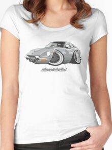 Datsun 240Z caricature silver Women's Fitted Scoop T-Shirt