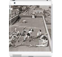 Women Boxing On Roof iPad Case/Skin