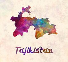 Tajikistan in watercolor by paulrommer