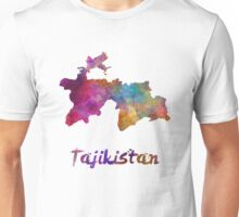 Tajikistan in watercolor Unisex T-Shirt