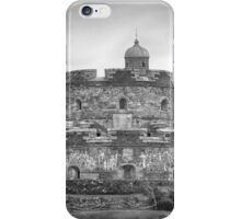 St. Mawes Fortress In Mono iPhone Case/Skin