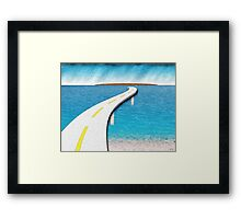 Road Work Ahead Framed Print