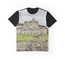 St. mawes Fortress, Square Format Graphic T-Shirt