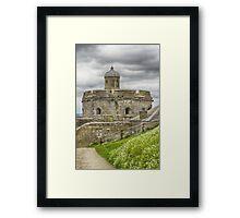 Fortress At St. Mawes, Cornwall Framed Print