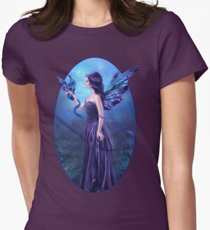 Iridescent Fairy & Dragon Womens Fitted T-Shirt