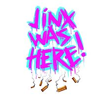 Jinx Was Here! Photographic Print