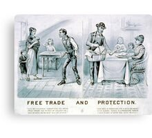 Free trade and protection - 1888 - Currier & Ives Canvas Print