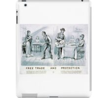 Free trade and protection - 1888 - Currier & Ives iPad Case/Skin