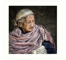Lady in Bhaktapur #0401 Art Print