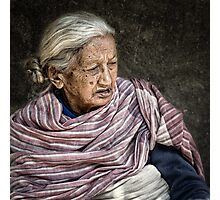 Lady in Bhaktapur #0401 Photographic Print