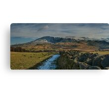 winter mountain view lake district cumbria Canvas Print
