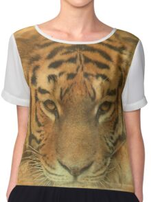 The Tiger in the Moon Chiffon Top