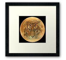 The Tiger in the Moon Framed Print