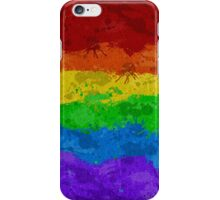 Rainbow Paint Splatter Flag iPhone Case/Skin