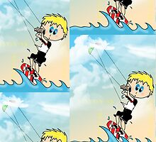 Kite Surfing by Kym Fedje
