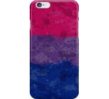 Bisexual Paint Splatter Flag iPhone Case/Skin