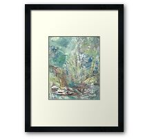 ravine blooms. etude Framed Print