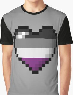 Asexual Pixel Heart Graphic T-Shirt