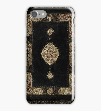 Antique Gilded Book Cover Design iPhone Case/Skin