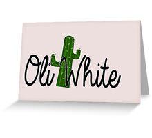Oli White Cactus Design  Greeting Card