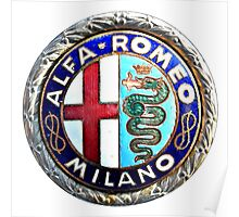 ALFA ROMEO OLD BADGE Poster
