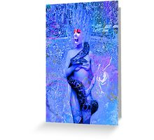 Blue Rain Greeting Card