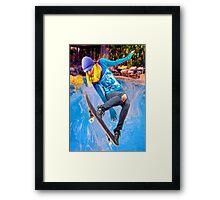 Skateboarding on Water Framed Print
