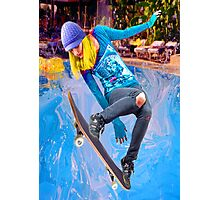 Skateboarding on Water Photographic Print